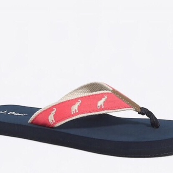 42fcc6d372dfd J. Crew Factory Shoes | New J Crew Factory Embroidered Elephant Flip ...